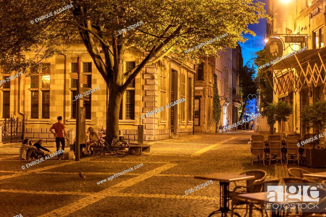 Stock Photo: Antwerp by night, Belgium.