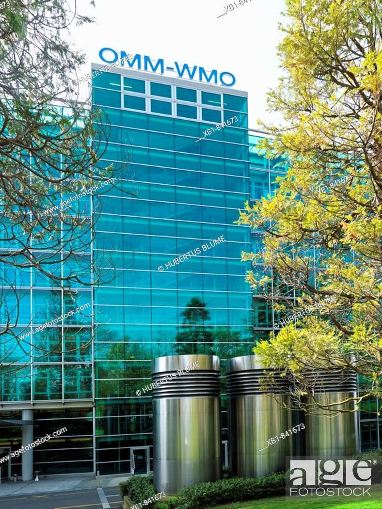 Stock Photo: Office building for the World Meteorological Organization, WMO, Geneva, Switzerland.