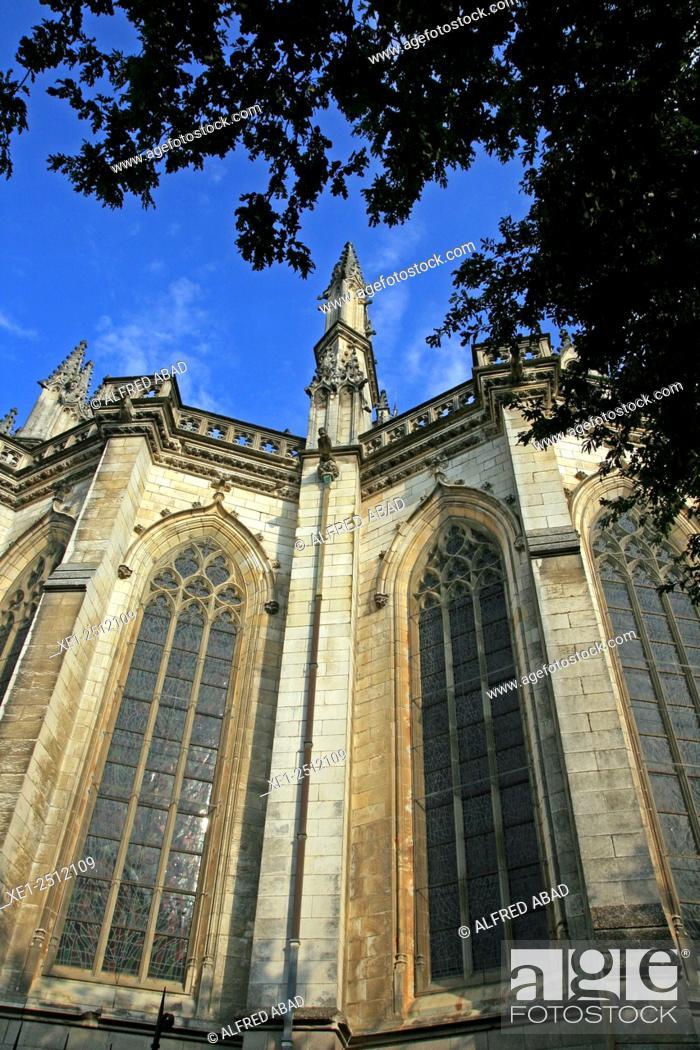 Stock Photo: Cathedral of Saint Pierre et Saint Paul, Nantes, France.