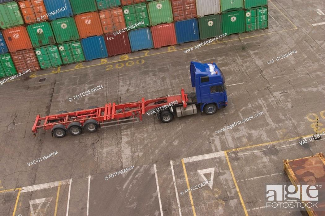 Stock Photo: port, harbor, shipping, industry, cargo, storage.