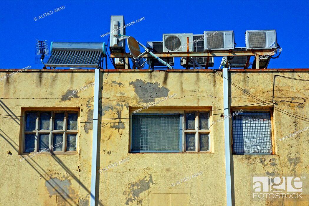 Stock Photo: air conditioners, industrial park, Sant Adrià del Besòs, Catalonia, Spain.