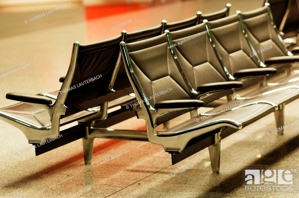 Stock Photo: Chairs in the waiting area of ??an airport.
