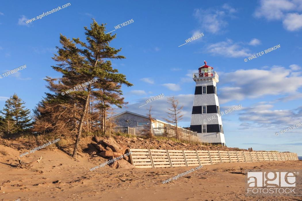 Stock Photo: Canada, Prince Edward Island, West Point, West Point Lighthouse.