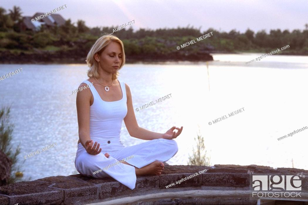 Stock Photo: Spa - Zen Ambiance - Meditation.