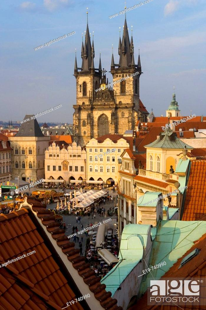 Stock Photo: Old Town Square, Prague, Czech Republic.
