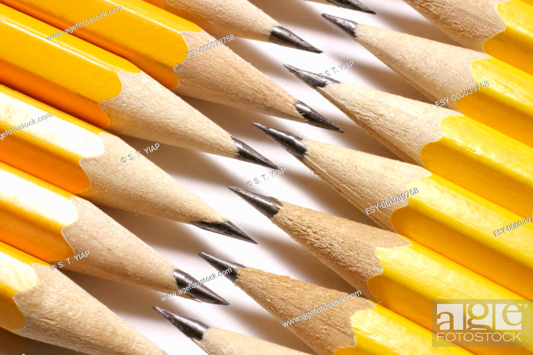 Stock Photo: Pencil tips.