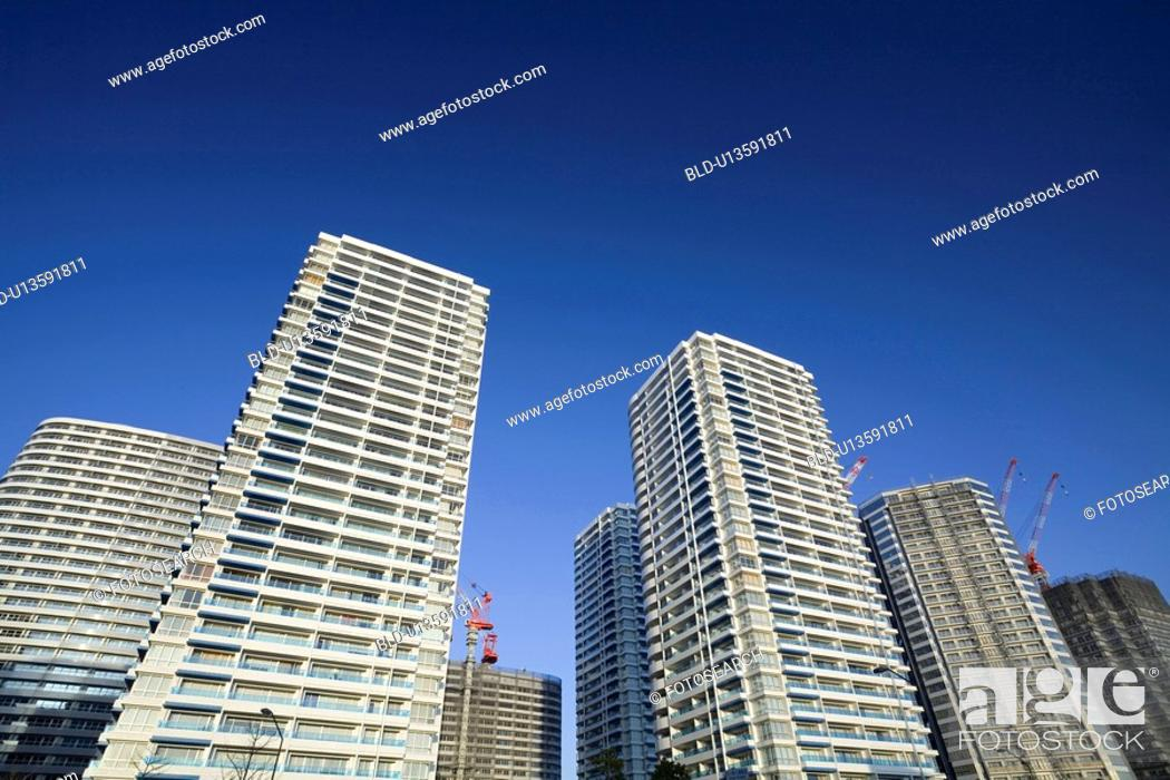 Stock Photo: Minatomirai apartments.