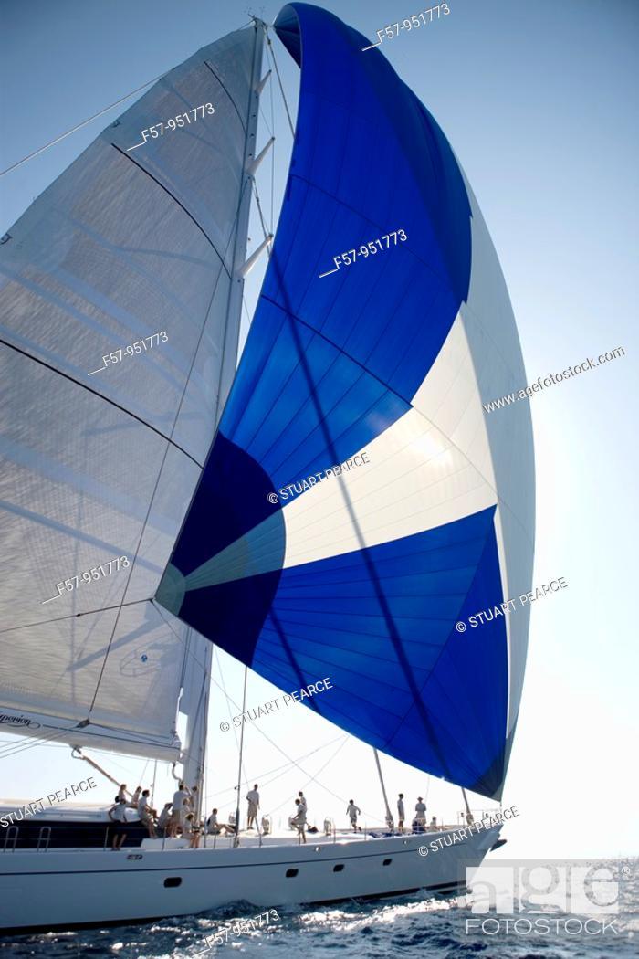 Stock Photo: Hyperion in the Superyacht Cup, Palma de Mallorca.