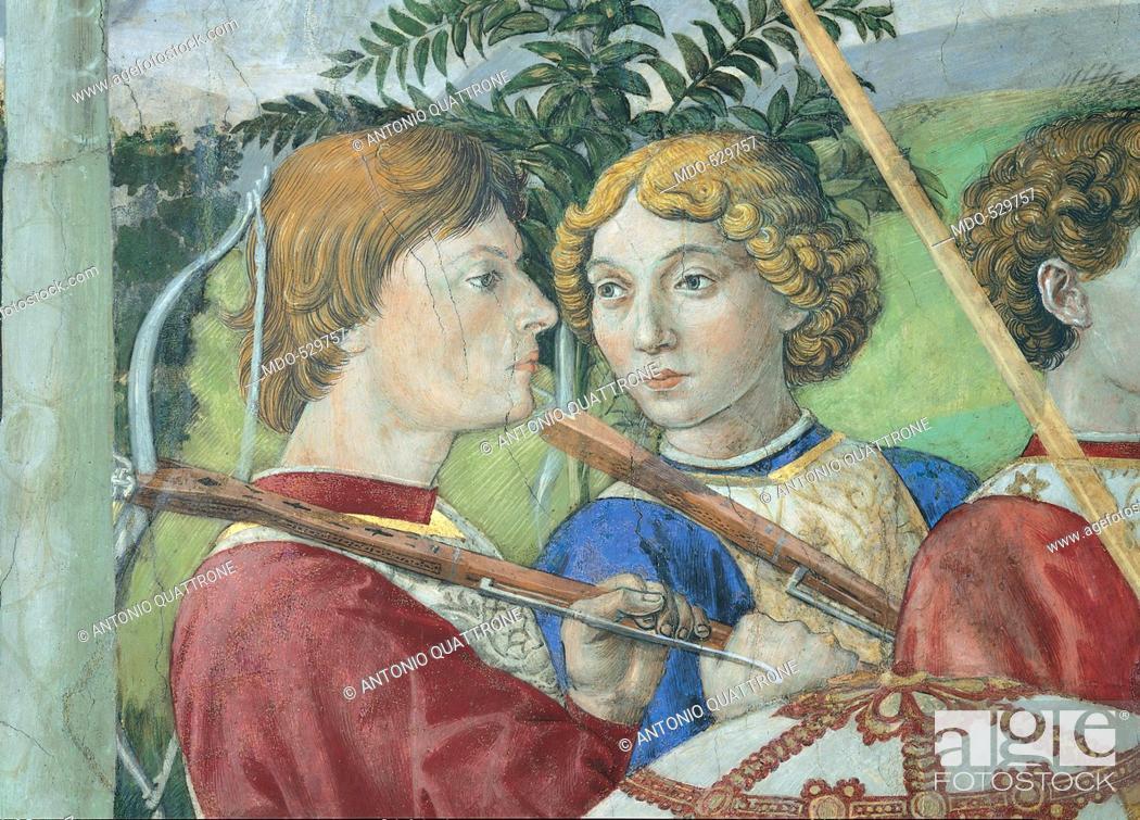 Stock Photo: Frescoes of the Chapel of the Magi, by Benozzo di Lese di Sandro known as Benozzo Gozzoli, 15th Century, 1459 -1460 about, fresco,.
