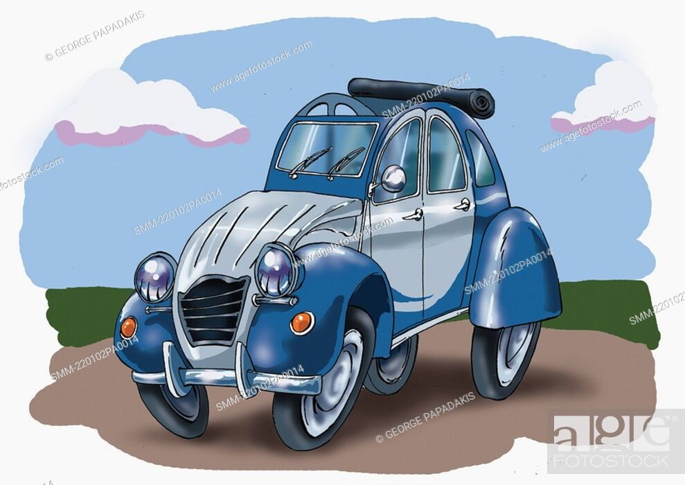 Stock Photo: Old fashioned small car.