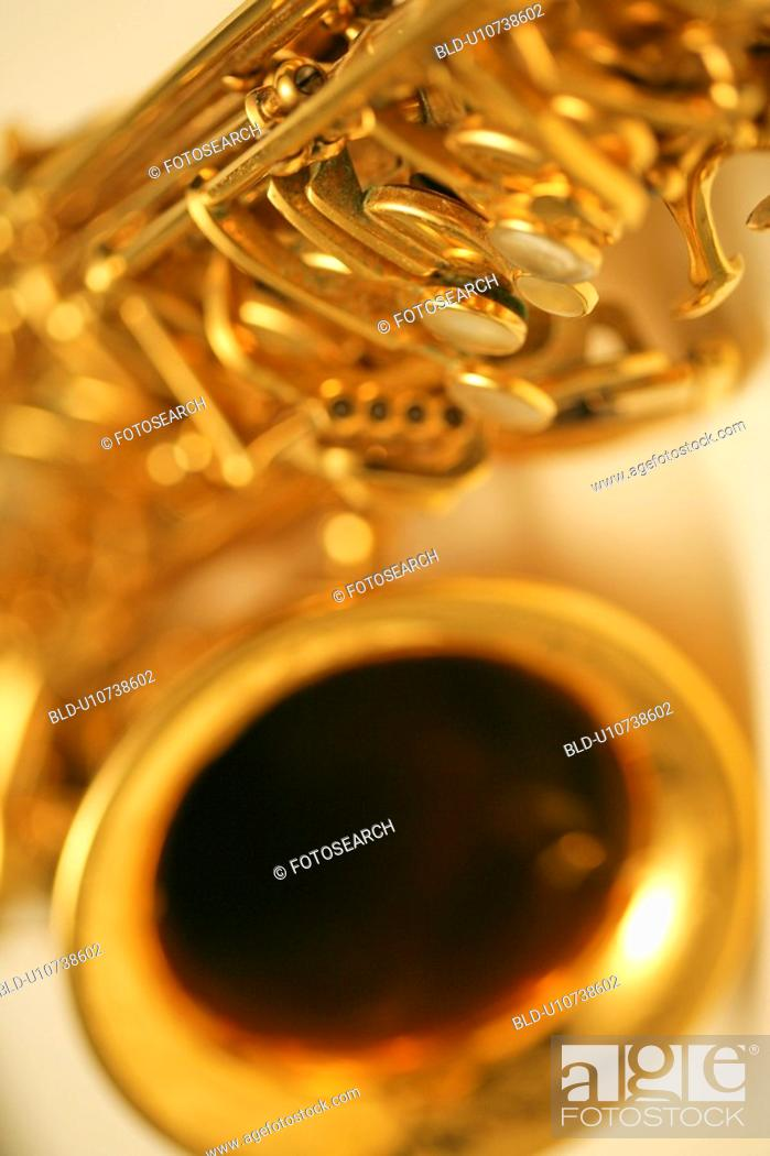 Stock Photo: Saxophone.