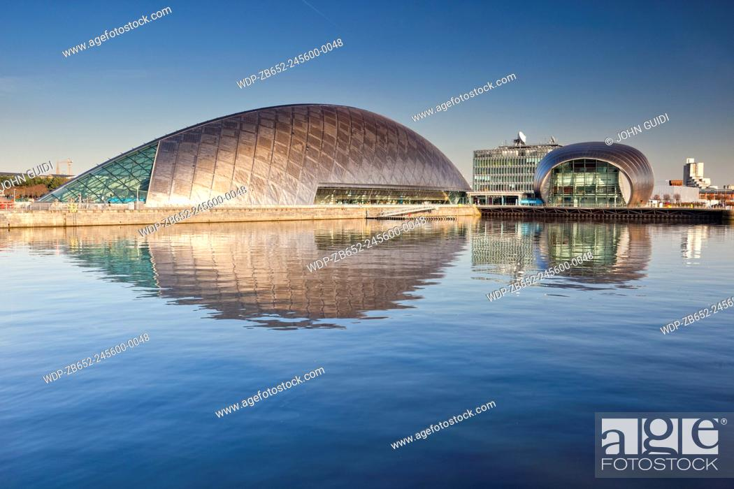 Stock Photo: Science Museum and IMAX cinema, Glasgow, Scotland, UK.