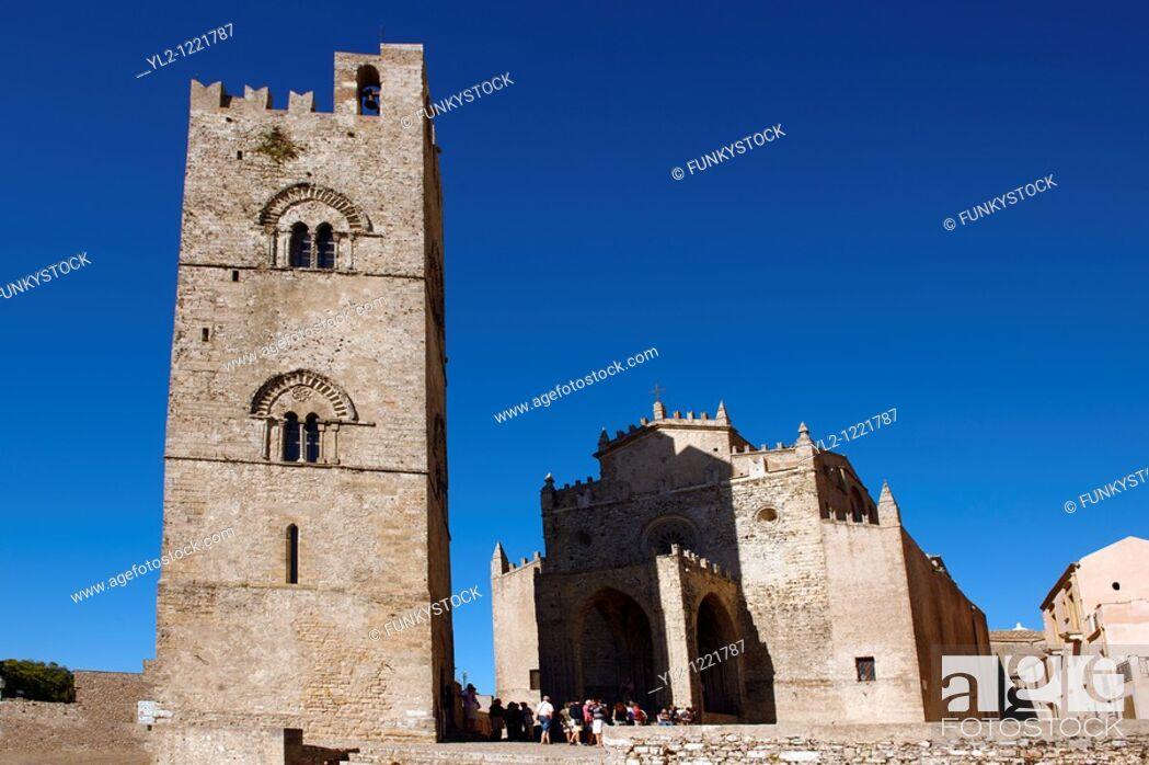Stock Photo: Torre de Re Frederico 2nd, Erice, Sicily.
