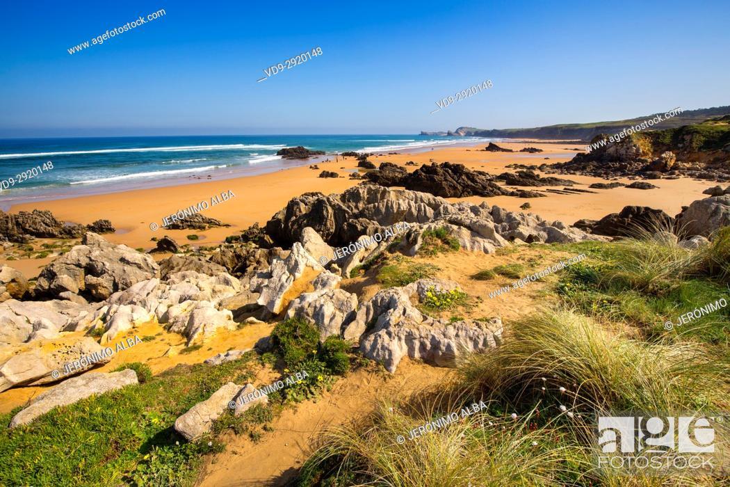 Stock Photo: Canallave beach, Liencres Natural Park. Cantabrian Sea. Santander, Cantabria Spain. Europe.