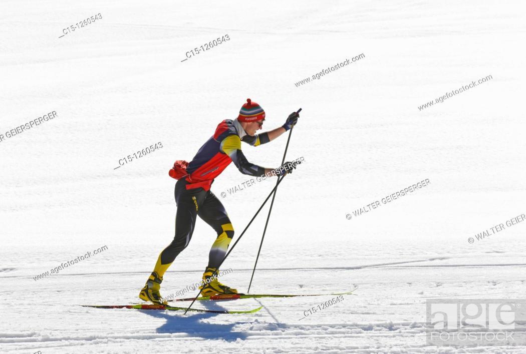 Stock Photo: Man at cross-country skiing.
