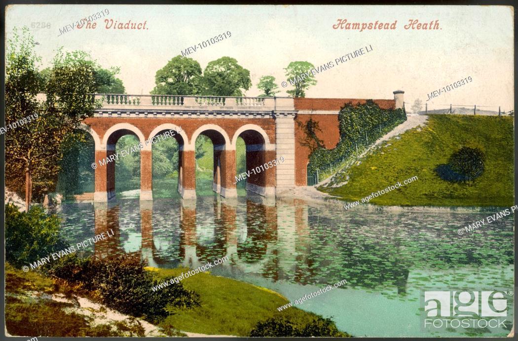 Stock Photo: Hampstead Heath: the Viaduct.