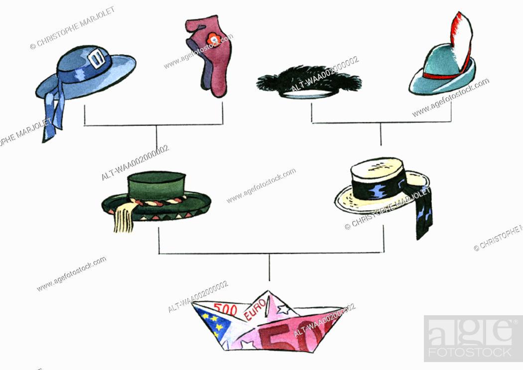 Stock Photo: Symbolic hats.
