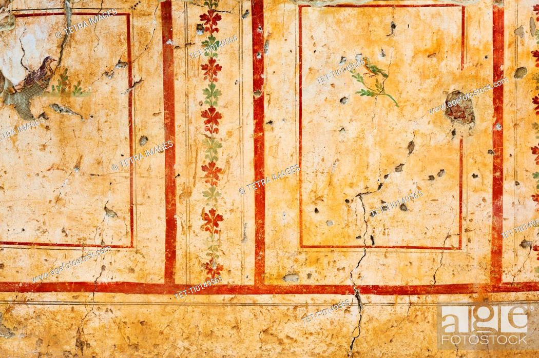 Stock Photo: Turkey, Ephesus, Private house mural.