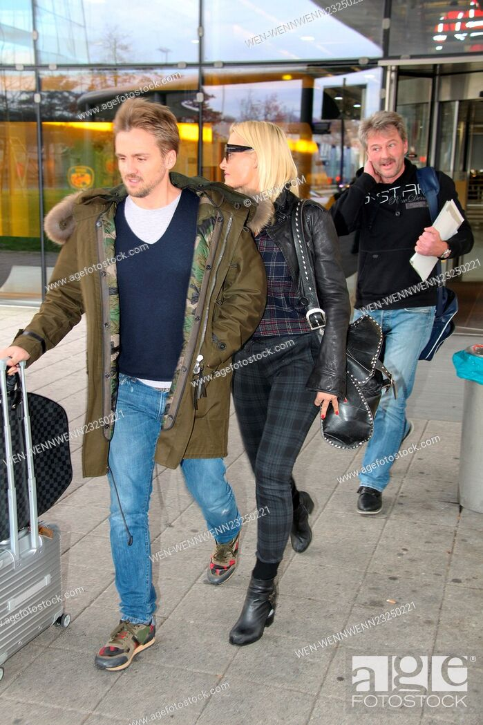 Sarah Connor And Florian Fischer Arriving At Cologne Bonn Airport