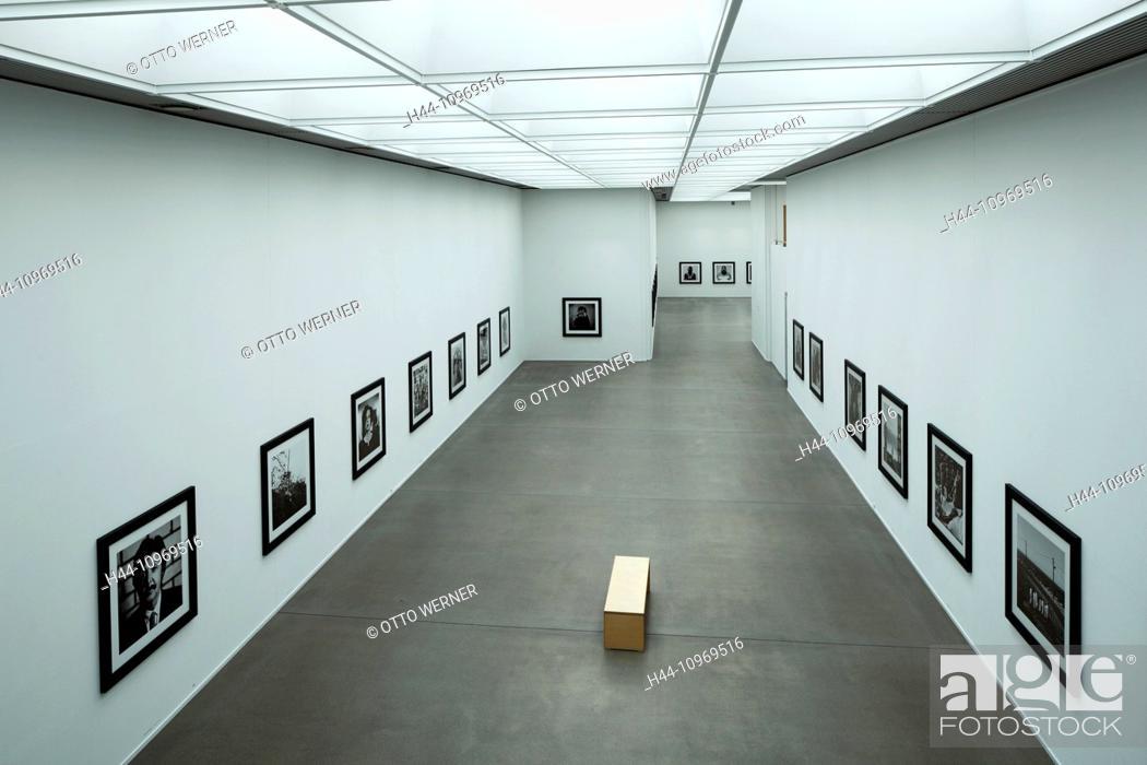 Stock Photo: Germany, Europe, Bochum, Ruhr area, Westphalia, North Rhine-Westphalia, art collection, art museum of Bochum, inside view, showroom, exhibit, Anton Corbijn.