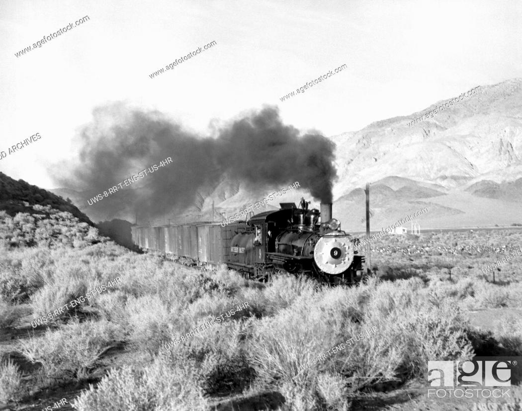 Stock Photo: United States: c. 1930.Southern Pacific's Baldwin locomotive #9 somewhere in the West.