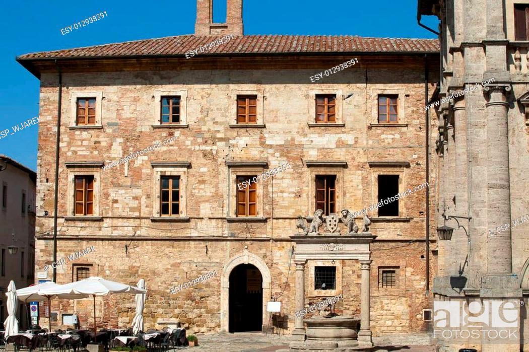 Stock Photo: Palazzo Tarugi in Montepulciano. Tuscany, Italy.