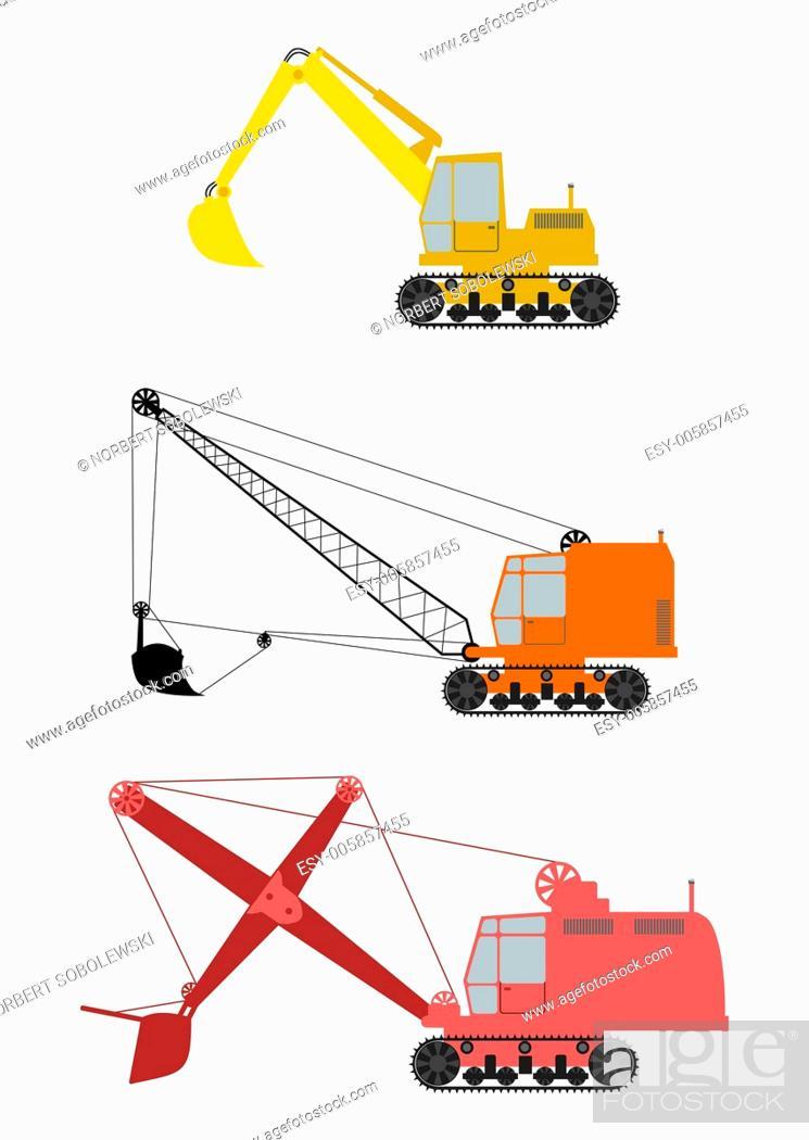 Stock Vector: Excavator.