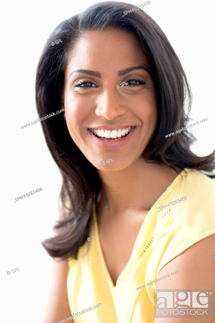 Stock Photo: Smiling woman.