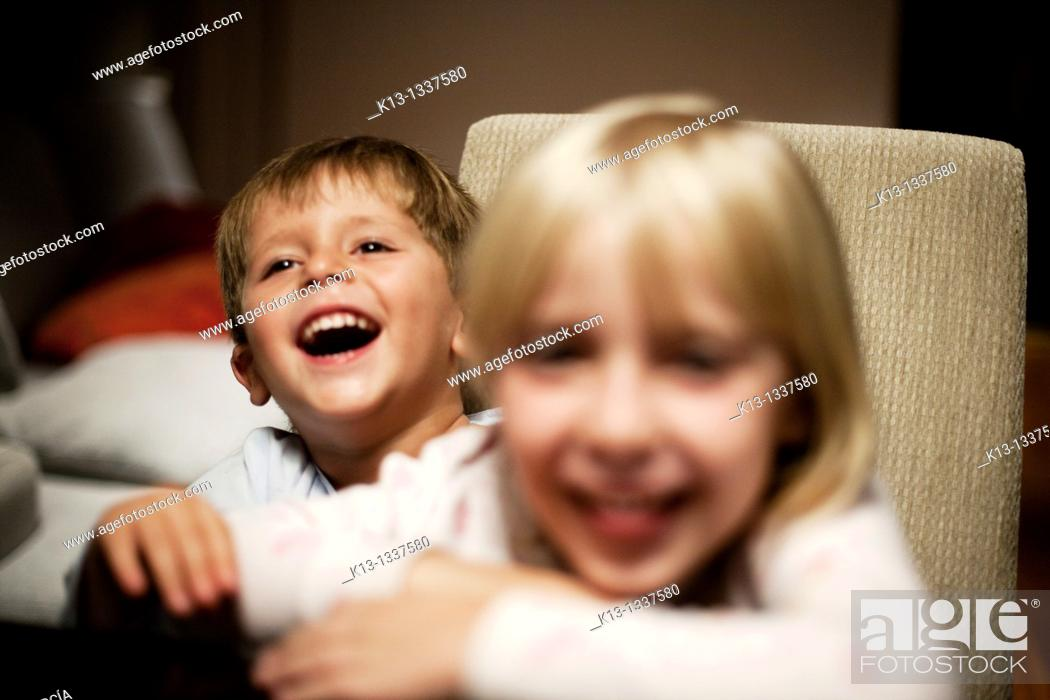 Stock Photo: Brother laughing.
