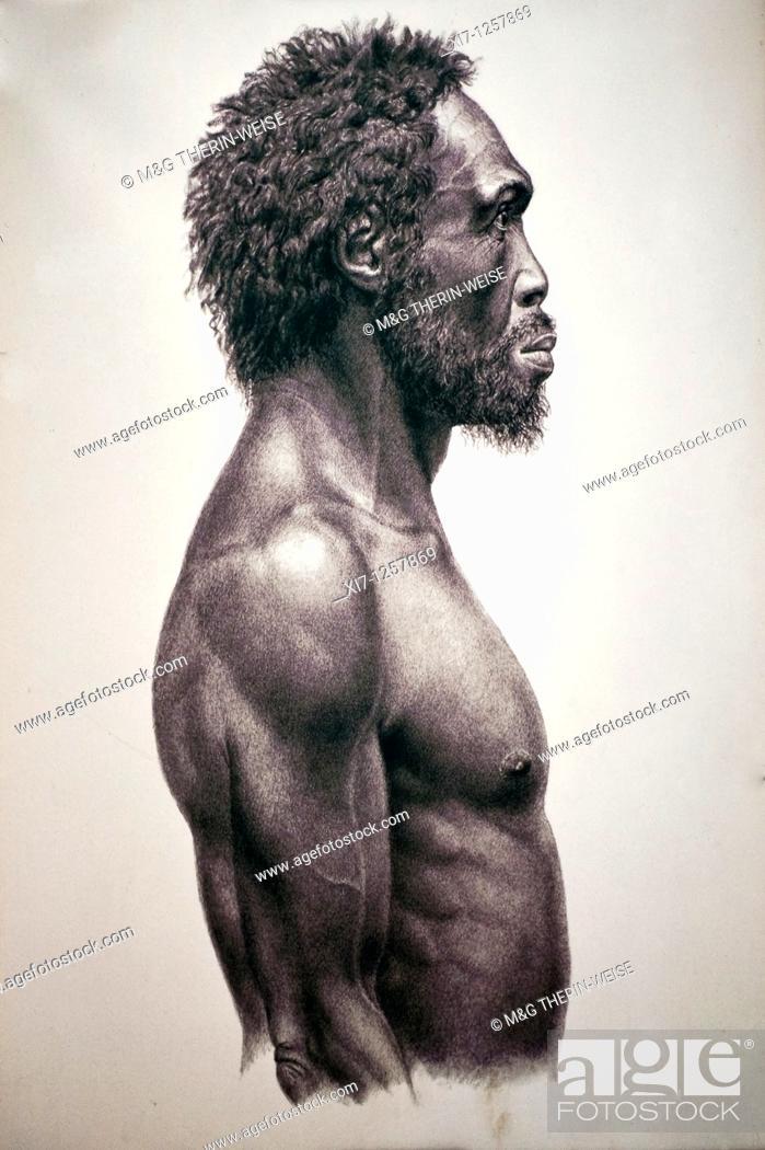 Imagen: Homo sapiens idaltu representation, Addis Ababa National Museum, Ethiopia.