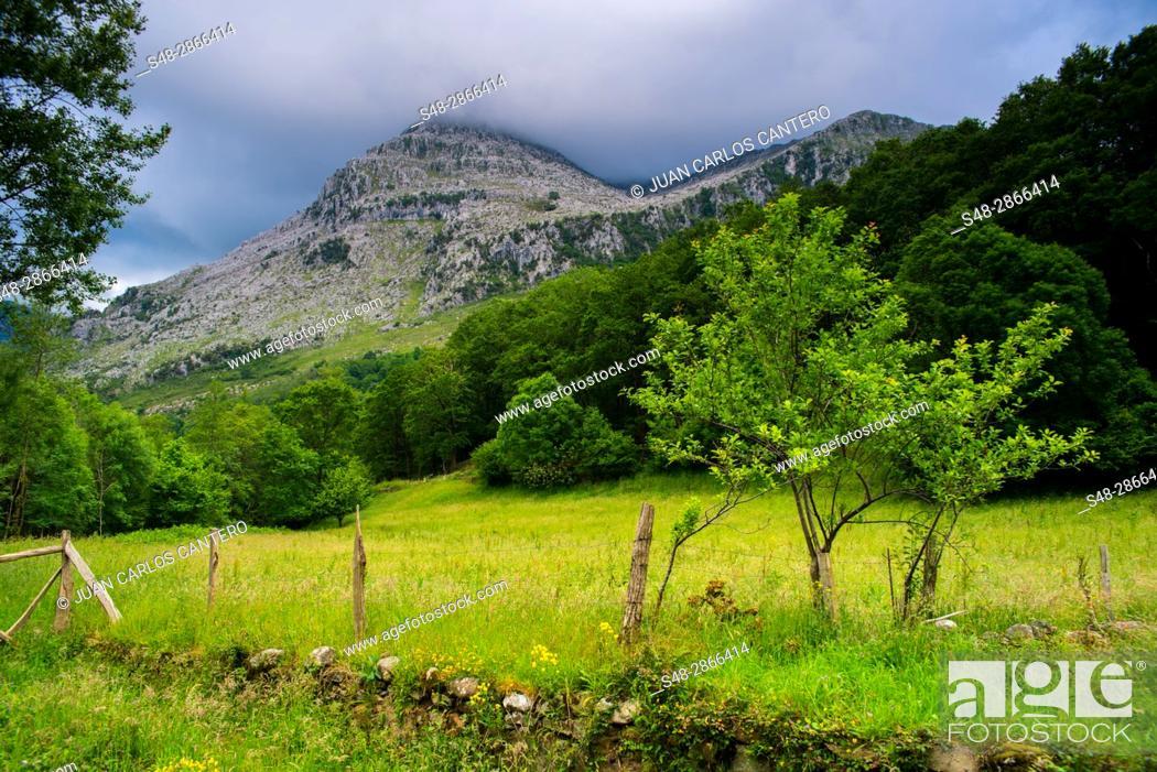 Stock Photo: Parque natural de los Collados del Ason. Cantabria, Northern Spain.