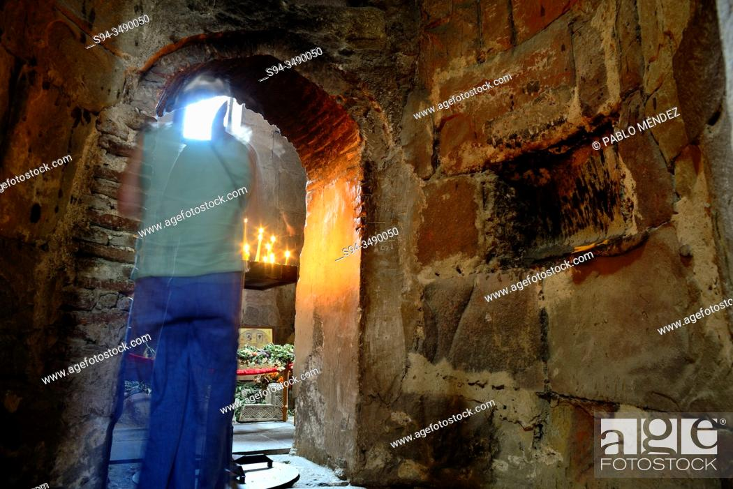 Stock Photo: Interior of the Monastery of Jvari in Mtskheta, Georgia.