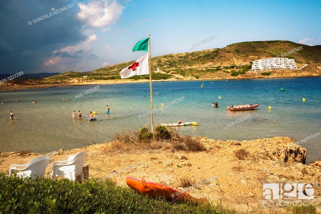 Stock Photo: Cala Tirant. Minorca. Balearic Islands. Spain.