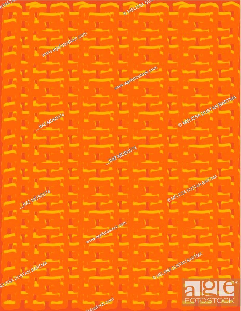 Stock Photo: An orange canvas textured pattern.