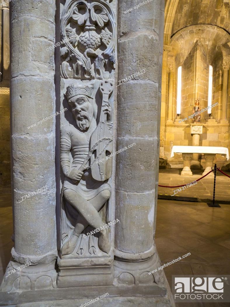 Imagen: Rey David. Catedral del Salvador de Santo Domingo de la Calzada. La Rioja. Spain.