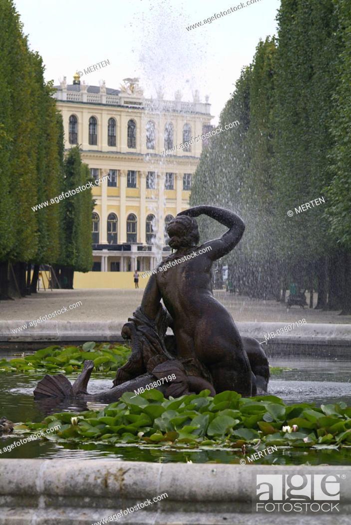 Austria, Vienna, palace Schönbrunn, Park, wells
