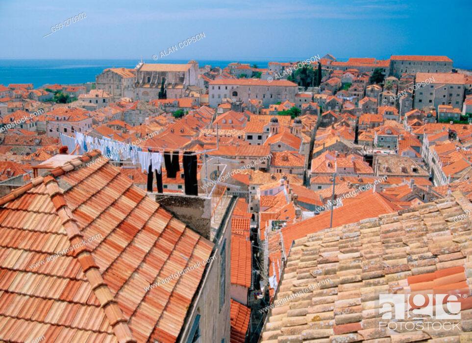Stock Photo: View of Dubrovnik. Croatia.