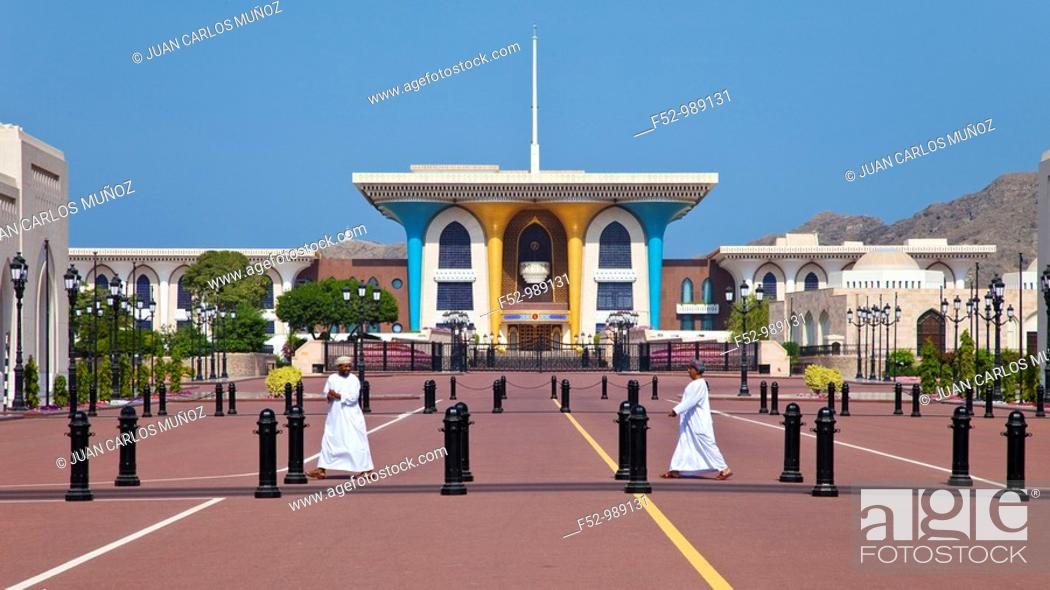 Stock Photo: Sultan Palace. Ancient Muscat. Omán. Persian Gulf. Arabia, Middle East.