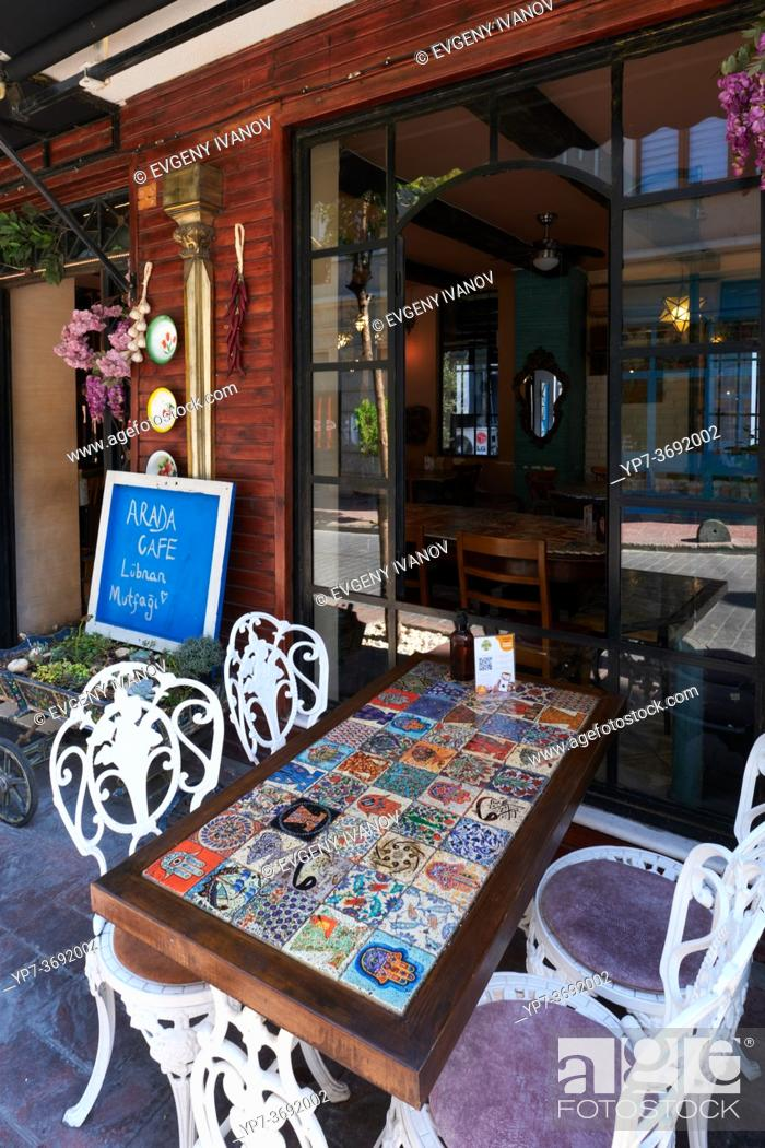 Stock Photo: Arada Lebanese Cuisine Cafe In Istanbul, Turkey.