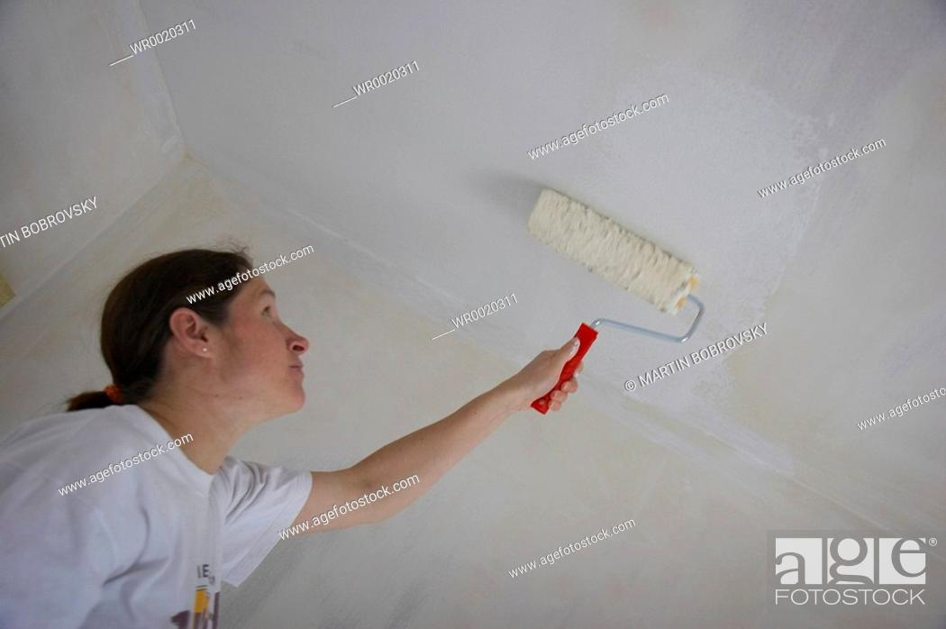Stock Photo: painting the walls.