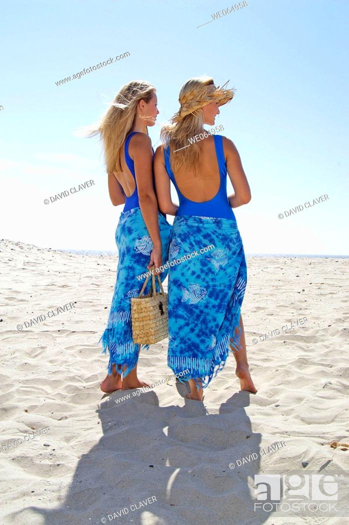 Stock Photo: Teen age girls at the beach.