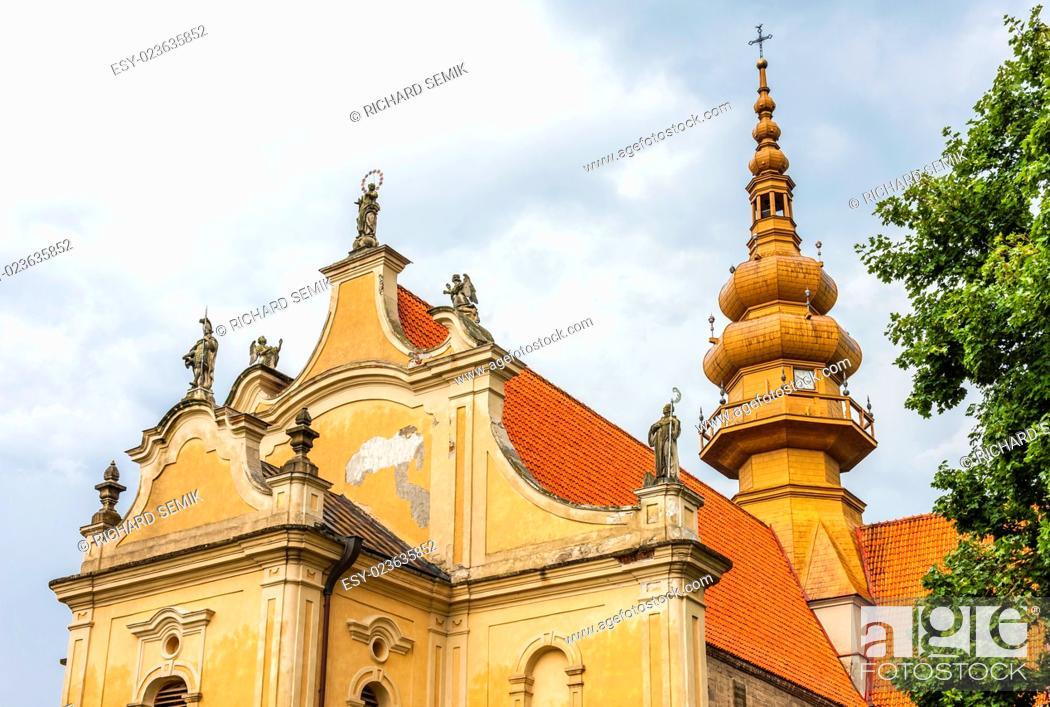 Stock Photo: Saint Florian Church, Koprzywnica, Swietokrzyskie Voivodeship, Poland.