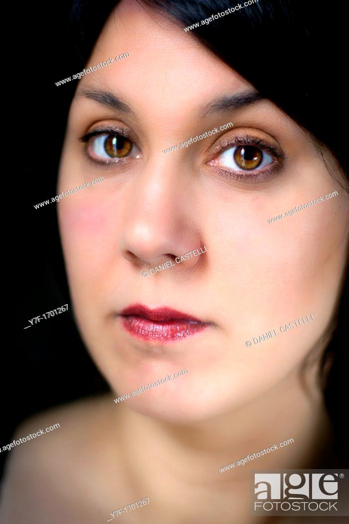 Stock Photo: Brown eyed woman.