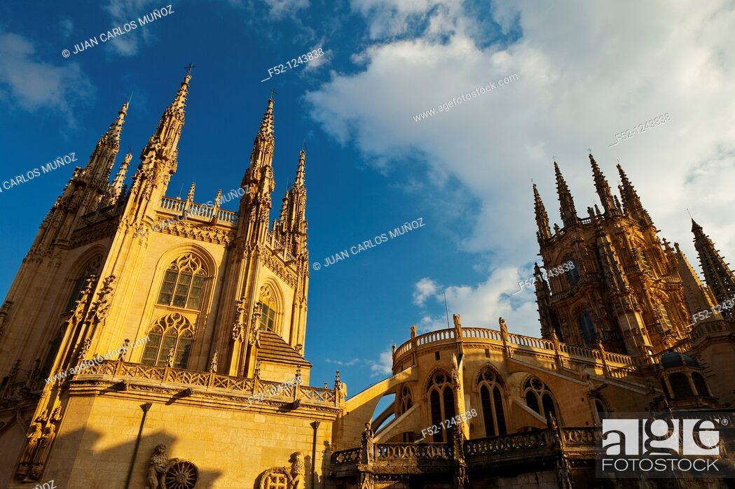 Stock Photo: Burgos Cathedral, Burgos, Castilla-Leon, Spain.