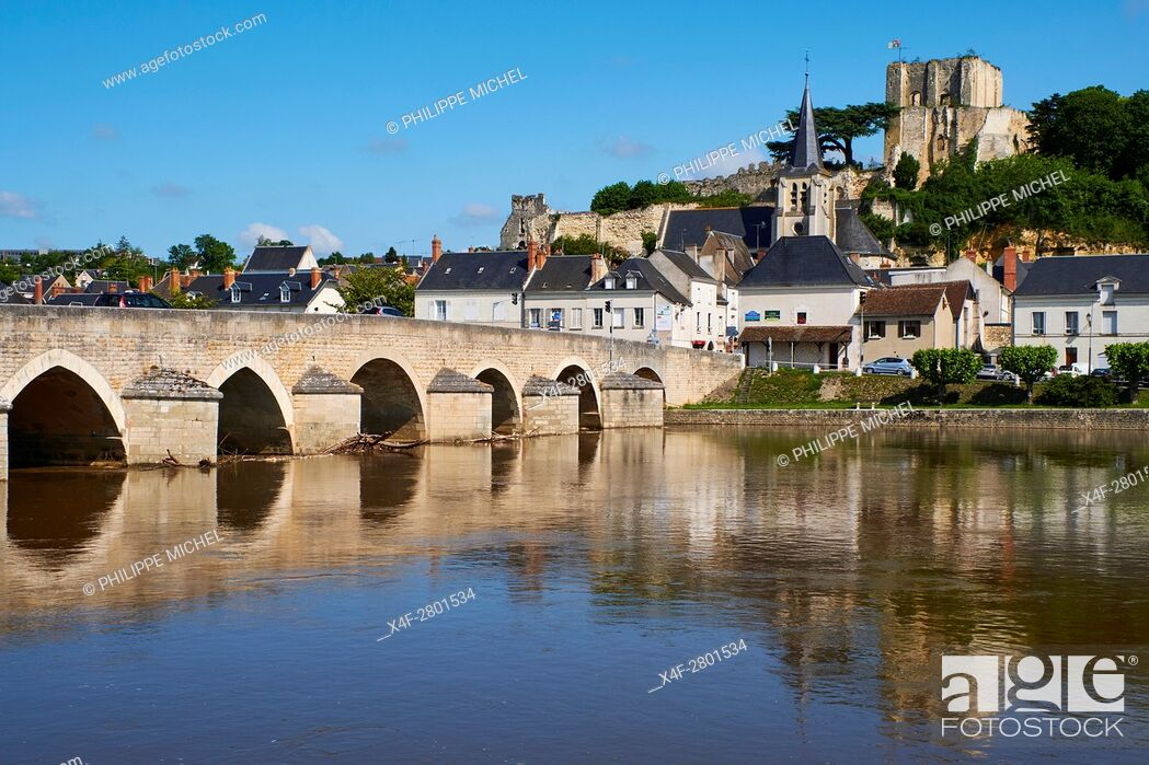 Stock Photo: France, Loir-et-Cher, Montrichard, castle and fortress of the 11h century.