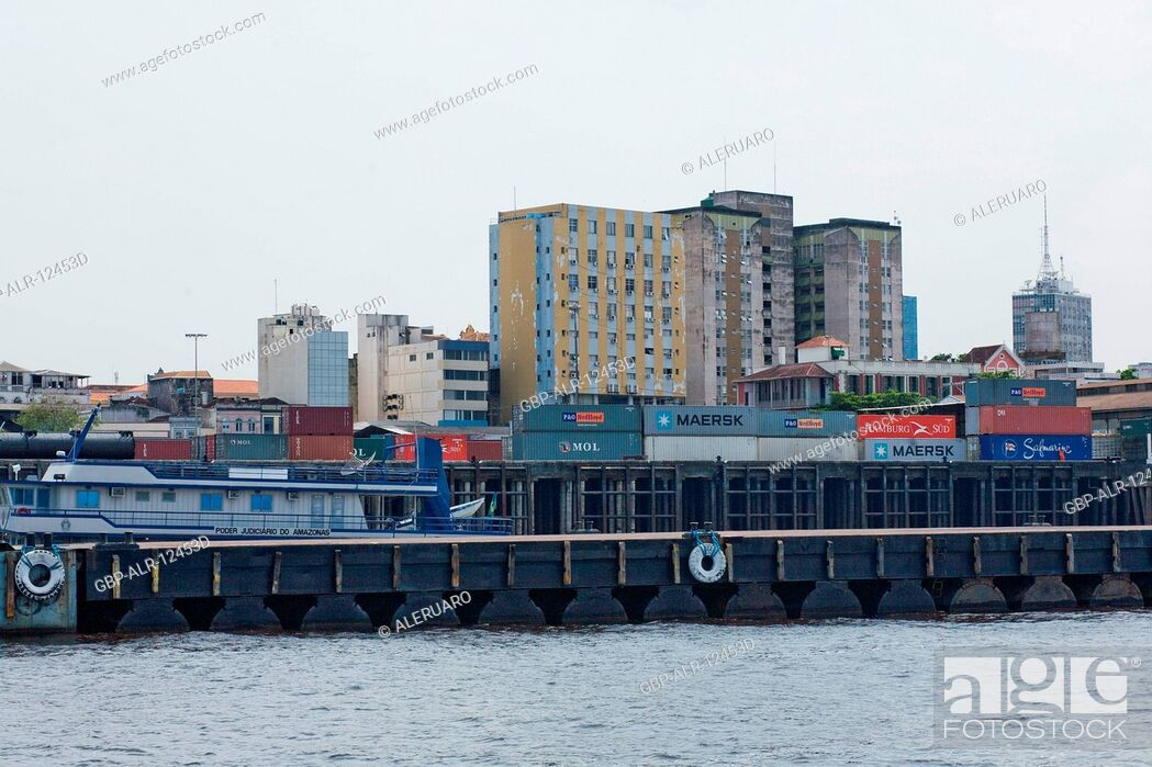 Stock Photo: View of the City of Manaus, Amazônia, Manaus, Amazonas, Brazil.