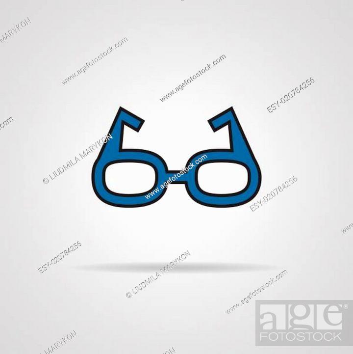 Stock Photo: Glasses icon.