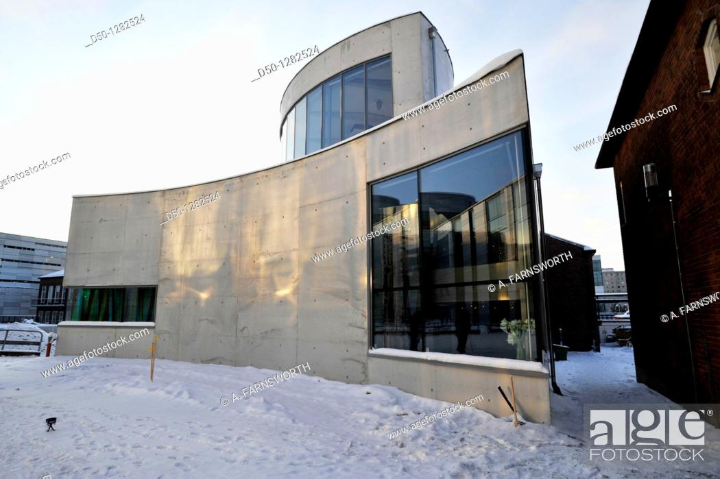 Stock Photo: Turebergs Church, newly built, innaugurated December 4, 2010, Stockholm, Sweden.