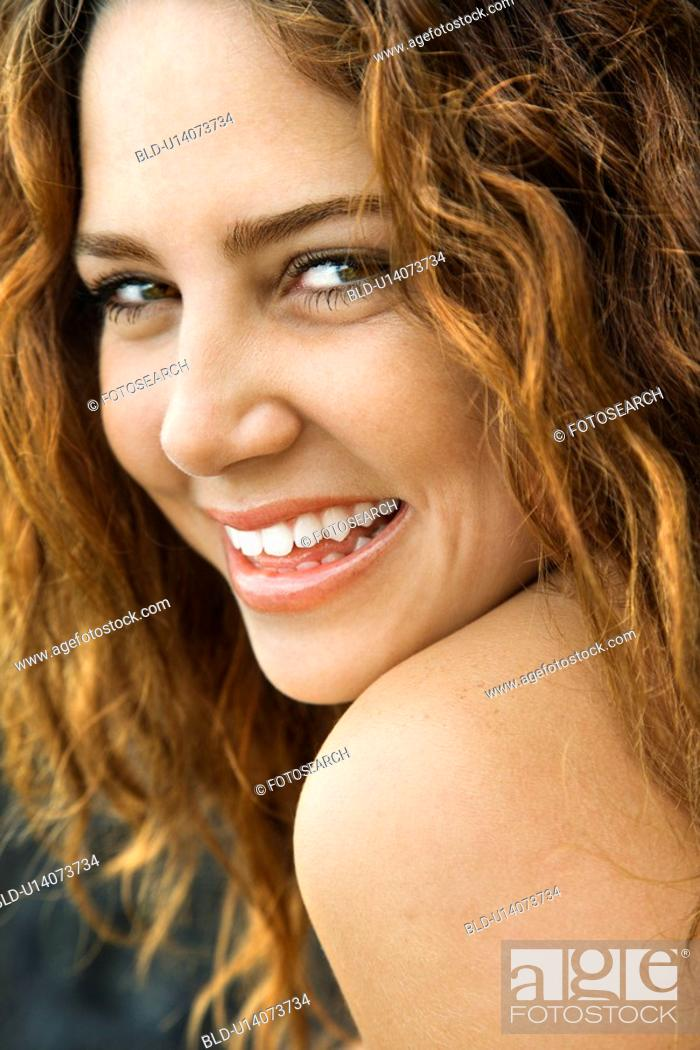 Stock Photo: Female smiling at viewer.