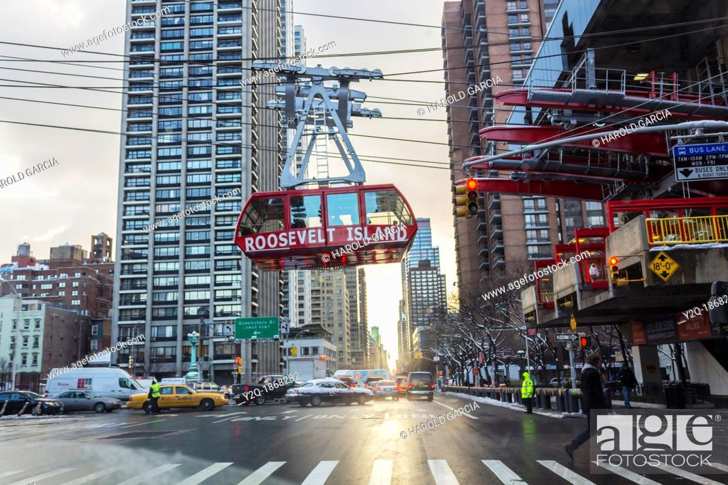 Imagen: Roosevelt Island tramway in New York City.